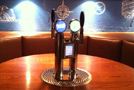 Pub Table Beer Tap on Custom Wood