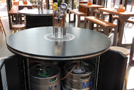 Inside Beer Dispensing Bar Table Keg